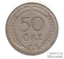 Schweden KM-Nr. : 796 1920 Sehr Schön Nickel-Bronze Sehr Schön 1920 50 Öre Gekröntes Monogramm - Schweden