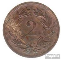 Schweiz KM-Nr. : 4 1886 Sehr Schön Bronze Sehr Schön 1886 2 Rappen Wappen - Schweiz