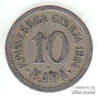Serbien KM-Nr. : 19 1884 Sehr Schön Kupfer-Nickel Sehr Schön 1884 10 Para Doppeladler - Serbia