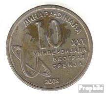 Serbien KM-Nr. : 51 2009 Vorzüglich Kupfer-Nickel-Zink Vorzüglich 2009 10 Dinara 25. Universiade - Serbie