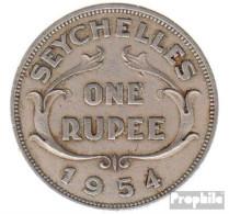 Seychellen KM-Nr. : 13 1968 Sehr Schön Kupfer-Nickel Sehr Schön 1968 1 Rupee Elizabeth II. - Seychellen