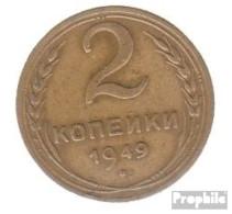 Sowjetunion KM-Nr. : 113 1953 Sehr Schön Aluminium-Bronze Sehr Schön 1953 2 Kopeken Wappen - Rusland