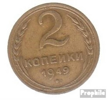 Sowjetunion KM-Nr. : 113 1950 Sehr Schön Aluminium-Bronze Sehr Schön 1950 2 Kopeken Wappen - Russia