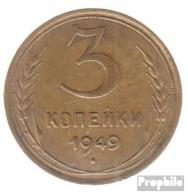 Sowjetunion KM-Nr. : 114 1954 Sehr Schön Aluminium-Bronze Sehr Schön 1954 3 Kopeken Wappen - Russia