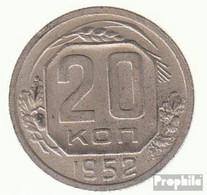 Sowjetunion KM-Nr. : 118 1956 Sehr Schön Kupfer-Nickel Sehr Schön 1956 20 Kopeken Wappen - Rusia