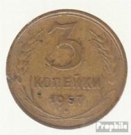 Sowjetunion KM-Nr. : 121 1957 Sehr Schön Aluminium-Bronze Sehr Schön 1957 3 Kopeken Wappen - Russia