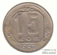 Sowjetunion KM-Nr. : 124 1957 Sehr Schön Kupfer-Nickel Sehr Schön 1957 15 Kopeken Wappen - Russia