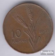 Türkei KM-Nr. : 898 1975 Sehr Schön Aluminium Sehr Schön 1975 10 Kurus FAO - Türkei
