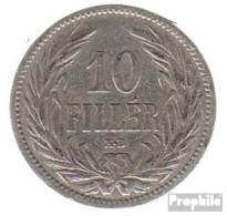 Ungarn KM-Nr. : 482 1893 Sehr Schön Nickel Sehr Schön 1893 10 Filler Krone - Ungarn