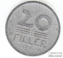 Ungarn KM-Nr. : 550 1965 Sehr Schön Aluminium Sehr Schön 1965 20 Filler Weizenähren - Ungarn