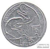 Vatikanstadt KM-Nr. : 126 1975 Stgl./unzirkuliert Aluminium Stgl./unzirkuliert 1975 5 Lire Heiliges Jahr - Vatikan