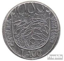Vatikanstadt KM-Nr. : 130 1975 Stgl./unzirkuliert Stahl Stgl./unzirkuliert 1975 100 Lire Heiliges Jahr - Vatikan