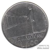 Vatikanstadt KM-Nr. : 137 1978 Stgl./unzirkuliert Stahl Stgl./unzirkuliert 1978 100 Lire Gekröntes Wappen - Vatikan