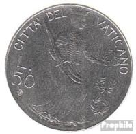 Vatikanstadt KM-Nr. : 145 1979 Stgl./unzirkuliert Stahl Stgl./unzirkuliert 1979 50 Lire Justicia - Vatikan