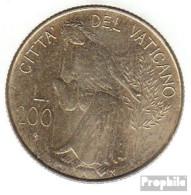 Vatikanstadt KM-Nr. : 147 1980 Stgl./unzirkuliert Aluminium-Bronze Stgl./unzirkuliert 1980 200 Lire Frieden - Vatikan