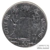 Vatikanstadt KM-Nr. : 157 1981 Stgl./unzirkuliert Stahl Stgl./unzirkuliert 1981 50 Lire Johannes Paul II. - Vatikan
