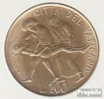 Vatikanstadt KM-Nr. : 159 1981 Stgl./unzirkuliert Aluminium-Bronze Stgl./unzirkuliert 1981 200 Lire Verbrennung - Vatikan
