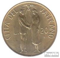 Vatikanstadt KM-Nr. : 162 1982 Stgl./unzirkuliert Aluminium-Bronze Stgl./unzirkuliert 1982 20 Lire Hochzeit - Vatikan
