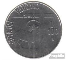 Vatikanstadt KM-Nr. : 180 1984 Stgl./unzirkuliert Stahl Stgl./unzirkuliert 1984 100 Lire Friedensjahr - Vatikan