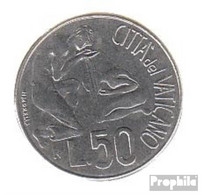 Vatikanstadt KM-Nr. : 230 1991 Stgl./unzirkuliert Stahl Stgl./unzirkuliert 1991 50 Lire Taufe - Vatikan