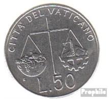 Vatikanstadt KM-Nr. : 238 1992 Stgl./unzirkuliert Stahl Stgl./unzirkuliert 1992 50 Lire Kreuz - Vatikan