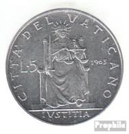 Vatikanstadt KM-Nr. : 78 1964 Stgl./unzirkuliert Aluminium Stgl./unzirkuliert 1964 5 Lire Paul VI. - Vatikan