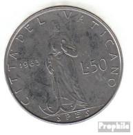 Vatikanstadt KM-Nr. : 81 1963 Vorzüglich Stahl Vorzüglich 1963 50 Lire Paul VI. - Vatikan