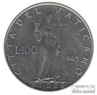 Vatikanstadt KM-Nr. : 82 1963 Stgl./unzirkuliert Stahl Stgl./unzirkuliert 1963 100 Lire Paul VI. - Vatikan