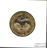 Volksrepublik China 1279 1999 Stgl./unzirkuliert Bimetall Stgl./unzirkuliert 1999 10 Yuan Rückgabe Von Macau - China
