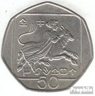Zypern KM-Nr. : 66 2002 Vorzüglich Kupfer-Nickel Vorzüglich 2002 50 Cents Wappen - Zypern