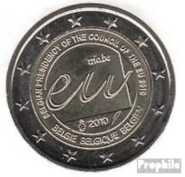 Belgien 2010 Stgl./unzirkuliert Stgl./unzirkuliert 2010 2 Euro EU-Ratspräsidentschaft - Bélgica