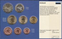 Estland 2011 Stgl./unzirkuliert Kursmünzensatz Stgl./unzirkuliert 2011 EURO-Erstausgabe - Estonia