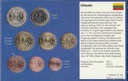 Litauen 2015 Stgl./unzirkuliert Kursmünzensatz Stgl./unzirkuliert 2015 EURO-Erstausgabe - Lituania