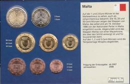 Malta 2008 Stgl./unzirkuliert Kursmünzensatz Stgl./unzirkuliert 2008 Euro-Erstausgabe - Malta