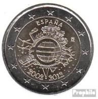 Spanien 2012 Stgl./unzirkuliert Stgl./unzirkuliert 2012 2 EURO 10 Jahre Euro Bargeld - España