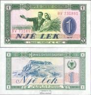 Albanien Pick-Nr: 40a Bankfrisch 1976 1 Lek - Albanien