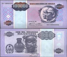 Angola Pick-Nr: 139 Bankfrisch 1995 100.000 Kwanzas Reajustados - Angola