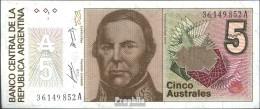 Argentinien Pick-Nr: 324a Bankfrisch 1985 5 Australes - Argentinien
