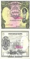 Birma Pick-Nr: 46a Bankfrisch 1958 1 Kyat - Myanmar