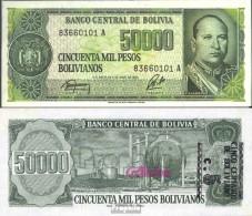 Bolivien Pick-Nr: 196 Bankfrisch 1987 5 Centavo On 50000 Pesos - Bolivien