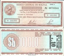 Bolivien Pick-Nr: 197 Bankfrisch 1987 10 Centavo On 100000 Pesos B - Bolivien