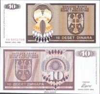 Bosnien-Herzegowina Pick-Nr: 133a Bankfrisch 1992 10 Dinara - Bosnien-Herzegowina
