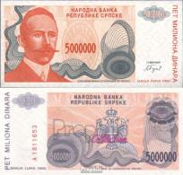 Bosnien-Herzegowina Pick-Nr: 156a (153a) Bankfrisch 1993 5 Mio Dinara - Bosnien-Herzegowina