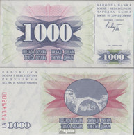 Bosnien-Herzegowina Pick-Nr: 15a Bankfrisch 1992 1.000 Dinara - Bosnien-Herzegowina