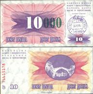 Bosnien-Herzegowina Pick-Nr: 53c Bankfrisch 1993 10000 Dinara - Bosnien-Herzegowina