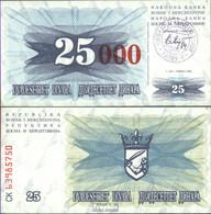 Bosnien-Herzegowina Pick-Nr: 54b Bankfrisch 1993 25.000 Dinara - Bosnien-Herzegowina