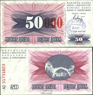 Bosnien-Herzegowina Pick-Nr: 55d Bankfrisch 1993 50.000 Dinara - Bosnien-Herzegowina