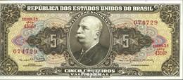 Brasilien Pick-Nr: 176d Bankfrisch 1962 5 Cruzeiros - Brasilien