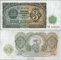 Bulgarien Pick-Nr: 81a Bankfrisch 1951 3 Leva - Bulgarien