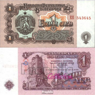 Bulgarien Pick-Nr: 93a Bankfrisch 1974 1 Lev - Bulgarien